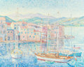 Fine Art - Painting, European:Other , YVONNE CANU (French, 1921-2008). St. Florent Comse. Oil oncanvas. 25-1/2 x 31-7/8 inches (64.8 x 81.0 cm). Signed lower...