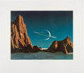 """Explorers:Space Exploration, Chesley Bonestell Signed """"Saturn as Seen from Titan"""" Lithograph...."""