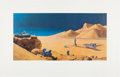 """Explorers:Space Exploration, Chesley Bonestell Signed """"The Exploration of Mars"""" Lithograph. ..."""