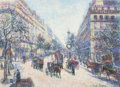 Works on Paper, HUGHES CLAUDE PISSARRO (French, b. 1935). Le Petit Fils. Pastel and pencil on paper. 14 x 19-1/2 inches (35.6 x 49.5 cm)...