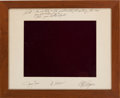 Autographs:Celebrities, Skylab III (SL-4) Framed Humorous Photo Presentation Crew-Signed onthe Mat....
