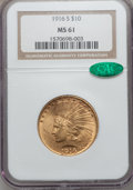 Indian Eagles, 1916-S $10 MS61 NGC. CAC....