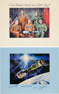 Autographs:Celebrities, Apollo-Soyuz Test Project Crew-Signed Color Photo and McCall ImageSigned on the Mat by American Crew. ... (Total: 2 Items)