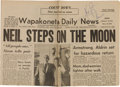 Explorers:Space Exploration, Neil Armstrong Signed Wapakoneta Daily News Dated July 21, 1969. ...
