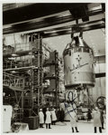 Autographs:Celebrities, Apollo 11: Neil Armstrong and Michael Collins Signed NASA Glossy B&W CSM-107 Photo....