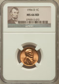 Lincoln Cents, (50 Piece Roll)1956-D 1C MS66 Red NGC. Mintage: 1,098,201,088....(Total: 50 coins)