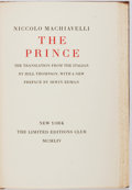 Books:Fine Press & Book Arts, [Limited Editions Club]. Niccolo Machiavelli. The Prince.New York: LEC, 1954. One of 1,500 copies. Publisher's bind...