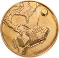Explorers:Space Exploration, Apollo 1 Gold-Colored Fliteline Medallion from the Personal Collection of Mission Pilot Roger Chaffee....