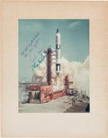 Autographs:Celebrities, Gemini 5 Crew-Signed Color Launch Photo. ...