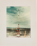 Autographs:Celebrities, Mercury-Redstone 4 (Liberty Bell 7) Color Launch PhotoSigned by Gus Grissom. ...