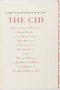 Books:Fine Press & Book Arts, [Limited Editions Club]. SIGNED LIMITED. Robert Southey. TheChronicle of the Cid. Haarlem: LEC, 1958. One of 1,50...