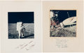 Autographs:Celebrities, Apollo 12 Moonwalkers: Individually-Signed Color Photos. ...(Total: 2 Items)