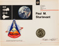 Explorers:Space Exploration, Space Shuttle Columbia (STS-1) Flown Embroidered MissionInsignia Crew Patch on a Presentation Certificate. ...