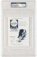 Autographs:Celebrities, Neil Armstrong Signed Apollo 11 Belgian Stamp Sheet with PSA/DNALOA and Graded Encapsulation....