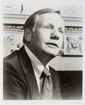 Autographs:Celebrities, Neil Armstrong Signed B&W Portrait Photo with JSA LOA. ...
