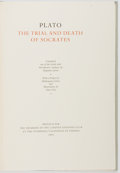 Books:Fine Press & Book Arts, [Limited Editions Club]. SIGNED LIMITED. Plato. Trial and Deathof Socrates. Verona: LEC, 1962. One of 1,500 copie...