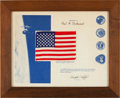 Explorers:Space Exploration, Skylab I (SL-2), Skylab II (SL-3), and Skylab III (SL-4) FlownAmerican Flag on Presentation Certificate....