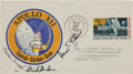 Explorers:Space Exploration, Apollo 12 Crew-Signed Moon Landing Cover....