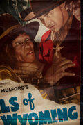 """Books:Prints & Leaves, [Movie Poster]. [Hopalong Cassidy]. """"Hills of Old Wyoming"""".Cleveland: Morgan Litho, [1937]. Reissued three-sheet [possibly ..."""