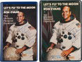 "Autographs:Celebrities, Ron Evans Signed ""Let's Fly to the Moon"" Tape Cases with VHS andCassette Contents. ... (Total: 2 Items)"