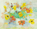 Post-War & Contemporary:Contemporary, LE PHO (French, 1907-2001). Fleurs. Oil on canvas. 29 x36-1/2 inches (73.7 x 92.7 cm). Signed and dated lower left:L...