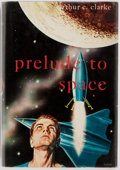 Books:Science Fiction & Fantasy, Arthur C. Clarke. Prelude to Space: New York: Gnome Press, [1954]. First American hardcover edition of Clarke's first published ...