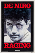 Boxing Collectibles:Memorabilia, 1980 Raging Bull Movie Advance Poster Signed by Jake LaMotta. ...