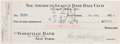 Autographs:Checks, 1924 Wally Pipp Signed New York Yankees Payroll Check....