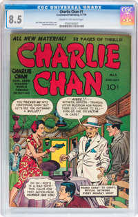Charlie Chan #1 (Crestwood/Headline, 1948) CGC VF+ 8.5 Cream to off-white pages
