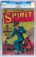 Golden Age (1938-1955):Crime, The Spirit #nn (#1) (Quality, 1944) CGC FN- 5.5 Off-white pages....
