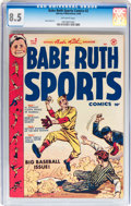 Golden Age (1938-1955):Miscellaneous, Babe Ruth Sports Comics #2 (Harvey, 1949) CGC VF+ 8.5 Off-white pages....