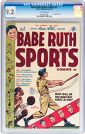 Golden Age (1938-1955):Non-Fiction, Babe Ruth Sports Comics #3 (Harvey, 1949) CGC NM- 9.2 Off-whitepages....