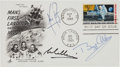 "Autographs:Celebrities, Apollo 11 Crew-Signed ""First Man on the Moon"" First Day Cover with 1970-Dated White House Letter of Transmittal. ... (Total: 2 Items)"