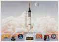 Autographs:Celebrities, Mercury Seven Astronauts: Limited Edition Lithograph Signed by Sixplus Betty Grissom. ...