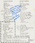 Explorers:Space Exploration, Apollo 13 Training-Used Cue Card Signed and Certified by MissionLunar Module Pilot Fred Haise....