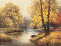 Paintings, ROBERT WILLIAM WOOD (American, 1889-1979). Autumn Forest, 1952. Oil on canvas. 24 x 32 inches (61.0 x 81.3 cm). Signed a...