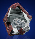 Minerals:Miniature, HEMATITE with ANDRADITE GARNET and CALCITE. Wessels Mine,Hotazel, Kalahari Manganese Fields, Northern Cape Province,Sout...