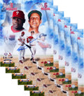 Autographs:Others, 2007 Stan Musial & Ryan Howard Signed Large Photographs from The Stan Musial Collection....