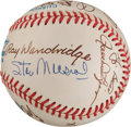 Autographs:Baseballs, 1992 Hall of Fame Induction Ceremony Signed Baseball from The Stan Musial Collection....