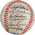 Autographs:Baseballs, 1984 Hall of Fame Induction Ceremony Multi-Signed Baseball from The Stan Musial Collection....