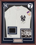"Autographs:Others, Circa 1990 Mickey Mantle ""No. 7"" Signed UDA Jersey...."