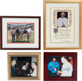 Baseball Collectibles:Photos, Stan Musial Signed & Unsigned Framed Memorabilia Lot of 4....