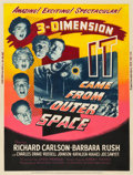 "Movie Posters:Science Fiction, It Came from Outer Space (Universal International, 1953). Poster (30"" X 40"") 3-D Style Z.. ..."