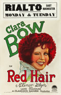 """Movie Posters:Comedy, Red Hair (Paramount, 1928). Window Card (14"""" X 22"""").. ..."""