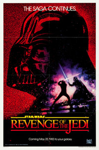 """Revenge of the Jedi (20th Century Fox, 1982). One Sheet (27"""" X 41"""") Dated Advance Style"""