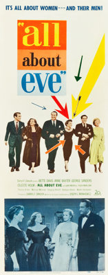"All About Eve (20th Century Fox, 1950). Insert (14"" X 36"")"