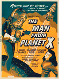 "Movie Posters:Science Fiction, The Man from Planet X (United Artists, 1951). Poster (30"" X 40"")....."