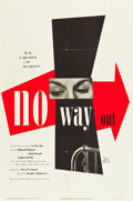 "Movie Posters:Film Noir, No Way Out (20th Century Fox, 1950). One Sheet (27"" X 41"").. ..."
