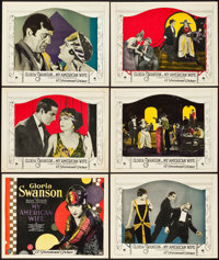 """My American Wife (Paramount, 1922). Title Lobby Card and Lobby Cards (5)(11"""" X 14""""). ... (Total: 6 Items)"""