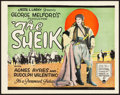"Movie Posters:Romance, The Sheik (Paramount, 1921). Title Lobby Card (11"" X 14"").. ..."